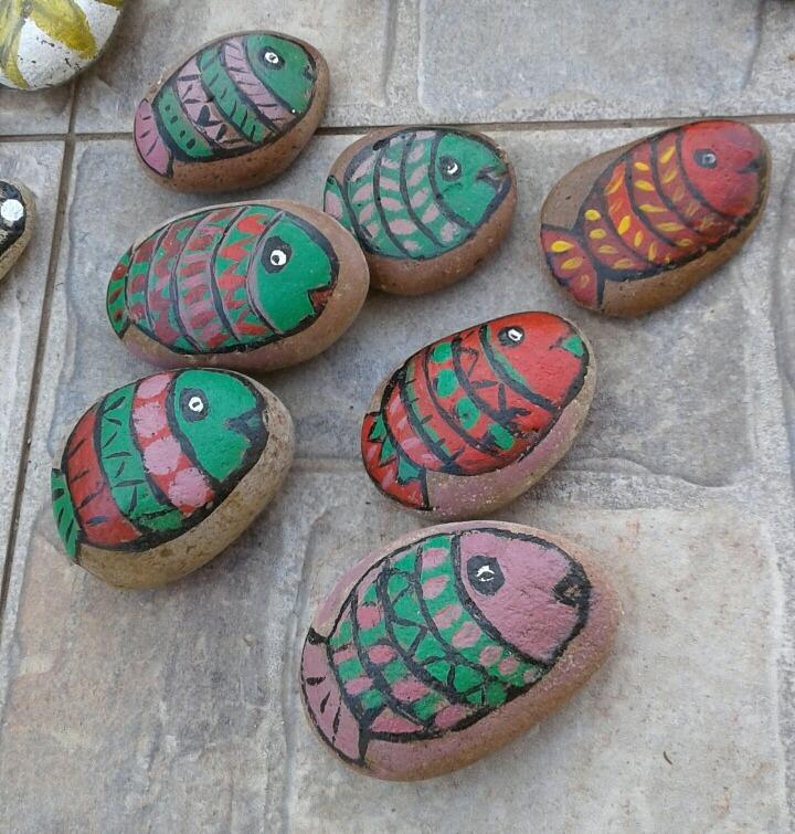 Piedras pintadas a mano 50 00 en mercado libre Piedras pintadas a mano