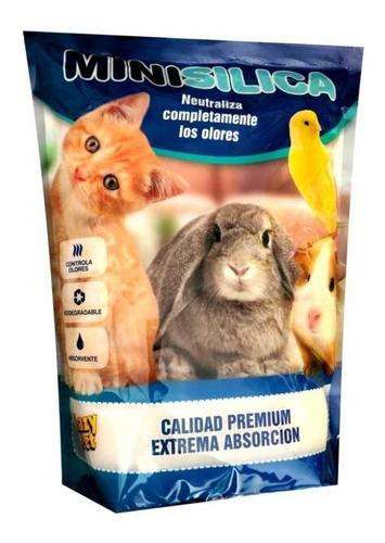 piedras sanitarias mini silica  gatos mascotas 3.8lt lazycat