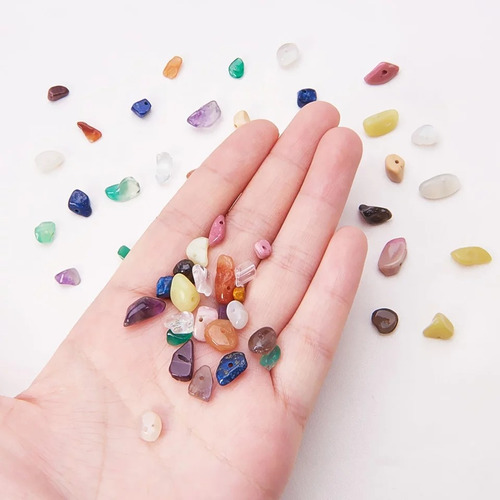 piedras semipreciosa con agujero