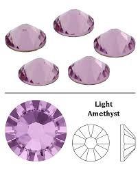 piedras strass con gomma ss16/4mm light amethyst 144 piedras