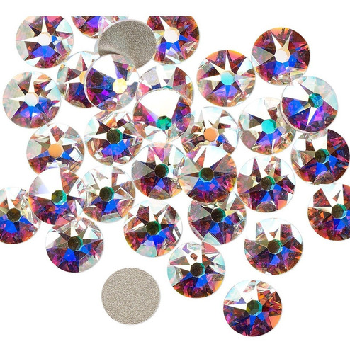 piedras strass nails - uñas ss20/5mm crystal ab 1440 piedras
