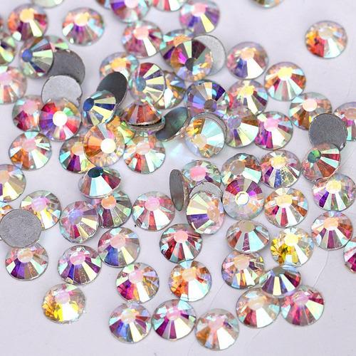 piedras tornasoladas nails - uñas tamaños variados