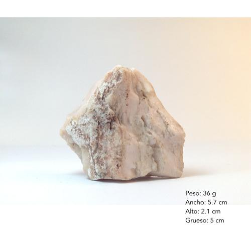 piel de angel mineral de colección opalo rosa pálido gbm