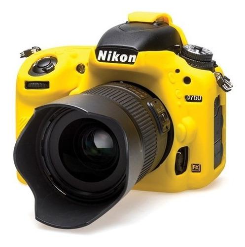 piel de silicona easycover nikon d750 amarillo