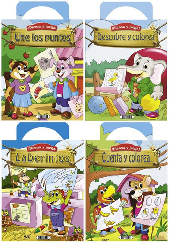 piensa y juega! libro de actividades infantiles.