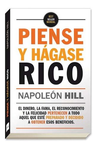 piense y hagase rico napoleon hill libro fisico nuevo
