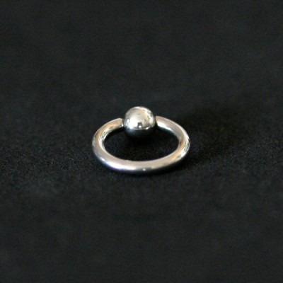 piercing aço cirurgico 316l captive com pedra crystal 1,2mm