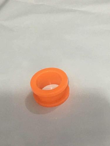 piercing alargador acrílico tamanho 16mm laranja leitoso