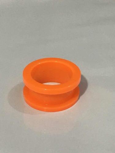 piercing alargador acrílico tamanho 18mm laranja leitoso