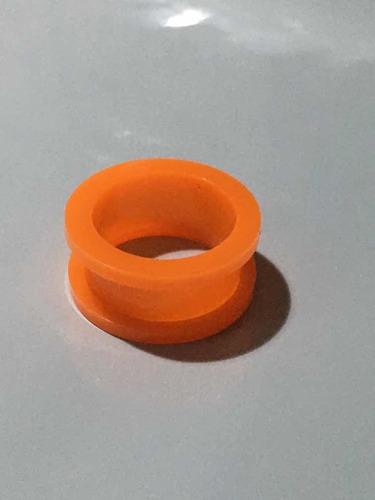 piercing alargador acrílico tamanho 20mm laranja leitoso