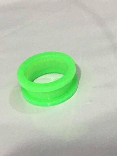 piercing alargador acrílico tamanho 22mm verde leitoso
