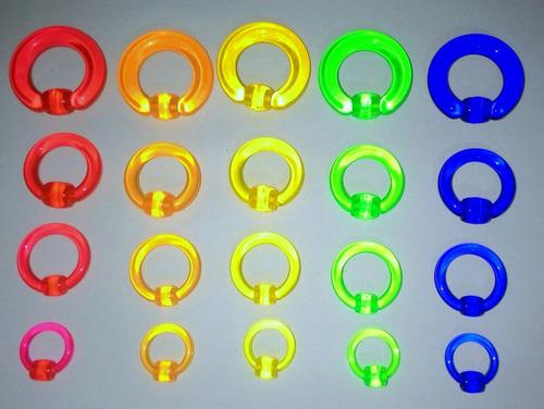 piercing argola acrílico fluorescente, *tenho mais unidades