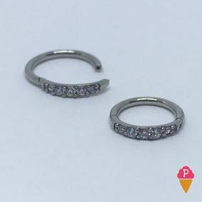 Piercing Argola Articulado Pedras Swarovski Tailandes P