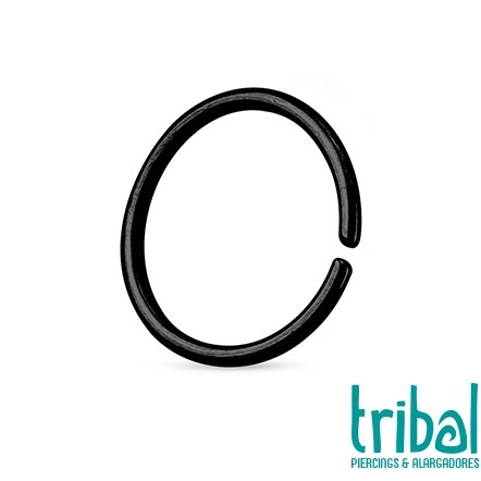 Piercing Argola Septo Cartilagem Aço Preto Tribal Piercings R 13