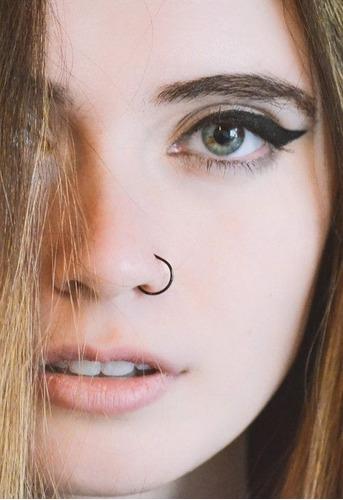 piercing arracada falsa nariz oreja labio 2 pzs con envio