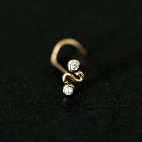 piercing de ouro 18k 0750 de s