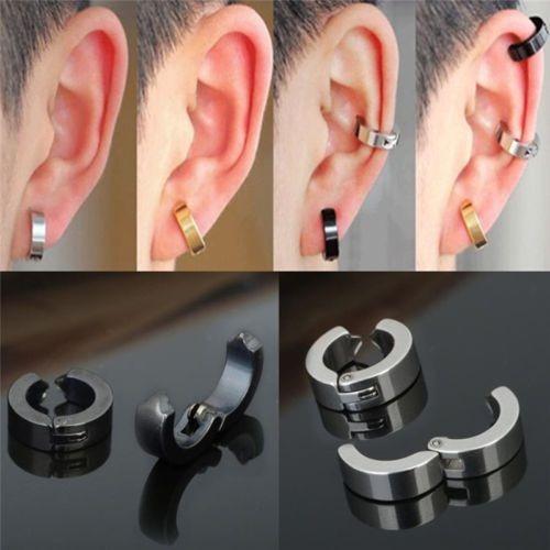 piercing falso 2 arracadas clip + 2 exp magneticos con envio