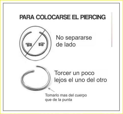 piercing falso nariz ajustable plata original sin perforacio