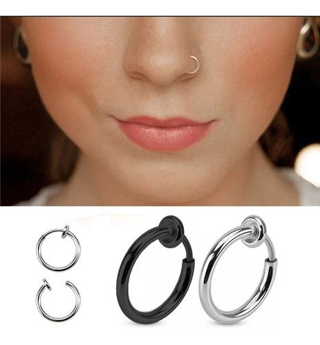 piercing falso sin perforación  oreja, labio, nariz 1 pcs