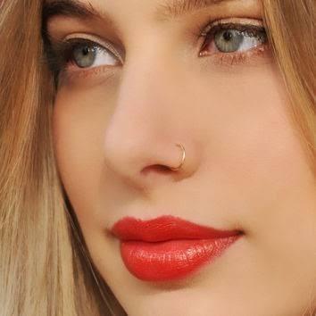 piercing feminino nariz argola ouro 18kl 750 9mm