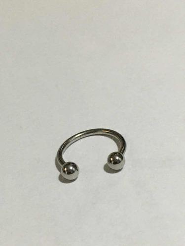 piercing ferradura de aço cirúrgico tamanho 12mm