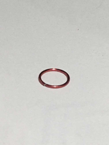 piercing nariz argola alumínio vermelho
