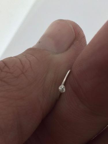 piercing nariz argola com zircônia em prata 950