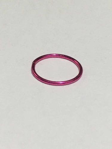 piercing nariz argola de alumínio rosa pink