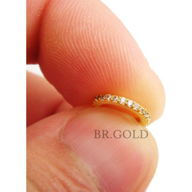 Piercing Nariz Orelha Cartilagem Argola Folheada A Ouro