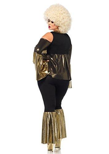 pierna avenida disfraz de discoteca para mujer