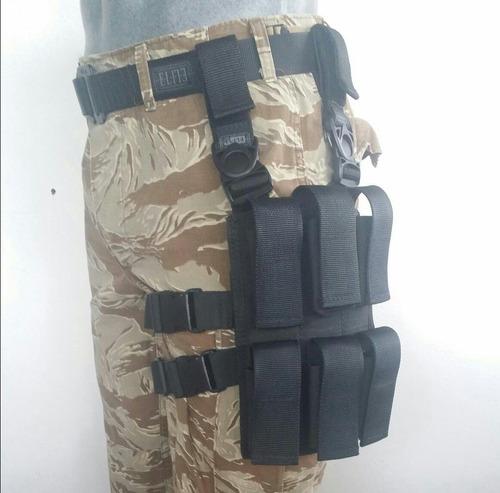piernera tactica porta granadas con plataforma e.l.i.t.e