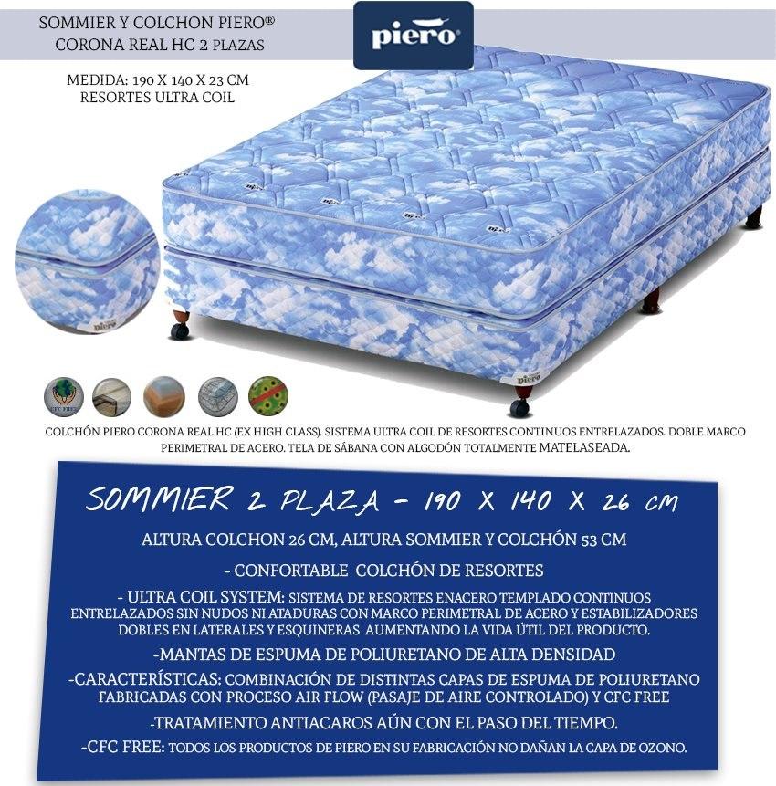 Sommier Completo Piero 2p Corona Real 140x190 - Mandy Hogar ...