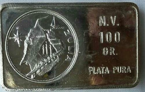 pieza de plata 1000 d 100 gr coleccion estados de venezuela