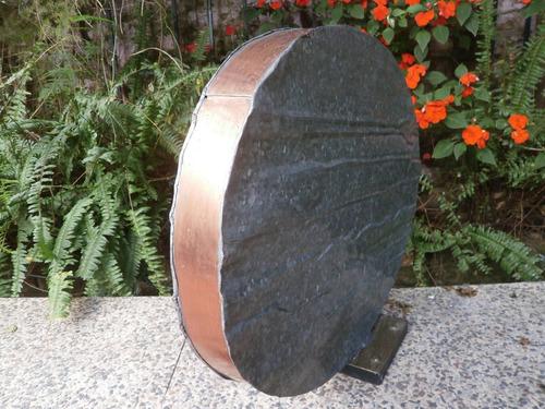 pieza ovoide (artesanía) obra de galv./cobre/bronce/hierro