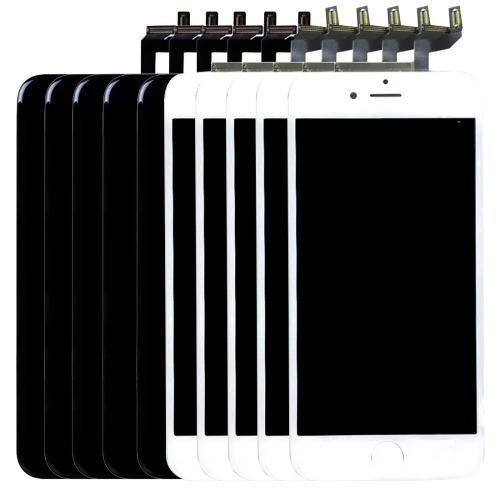 pieza para iphone 6s pantalla lcd 5 pcs negro blanco 3 1