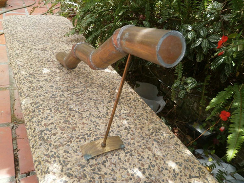 pieza quebrada obra de br./cobre (artesanía) 60x10x32 d/alto