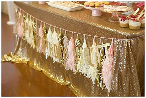 piezas de fiesta 26 de qian bebé rosado y oro blanco baby