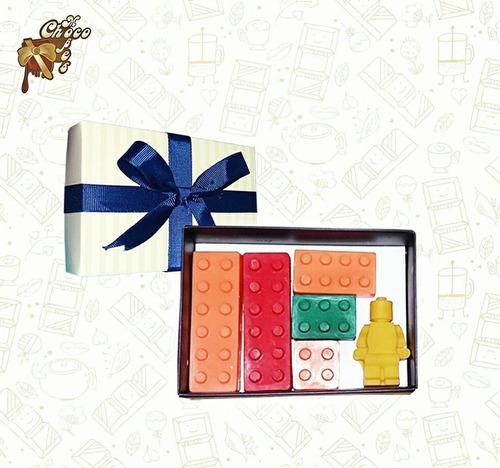 piezas de lego de chocolate-perfecto para mi enamorado