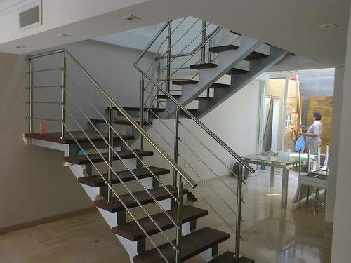 piezas para barandas  de acero inoxidable e instalacion.