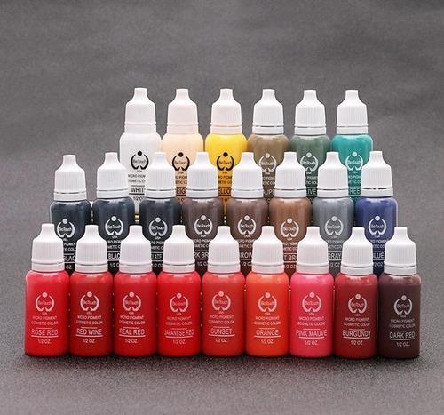 pigmento biotouch cosmetico tinta permanente  23 colores