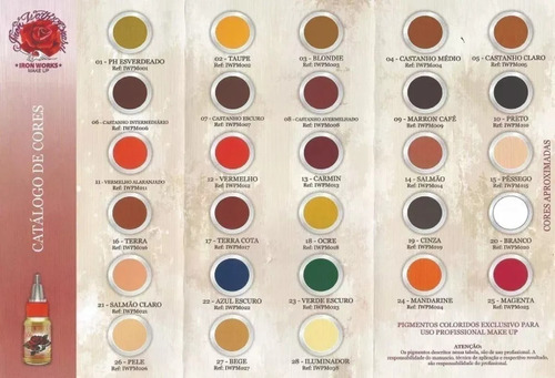 pigmento iron works 15ml castanho escuro