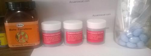 pigmento para canarios rojo 20 gramos