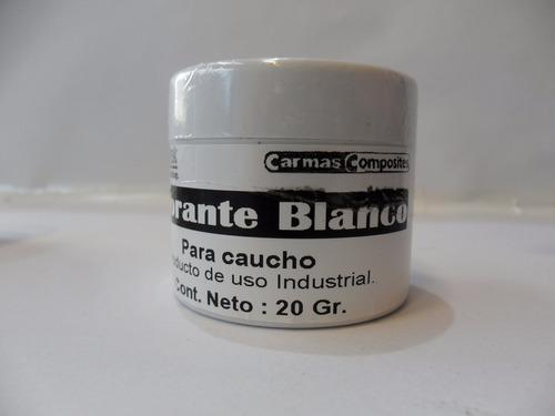 pigmento para caucho de silicona color blanco envase x 20 gr