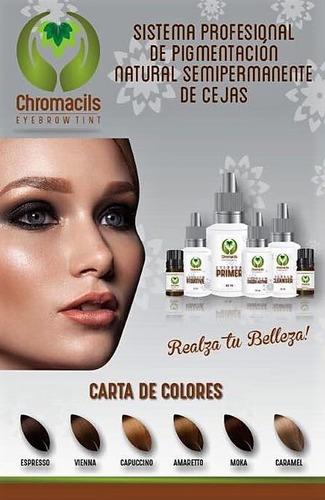 pigmento semipermanente para cejas henna organica