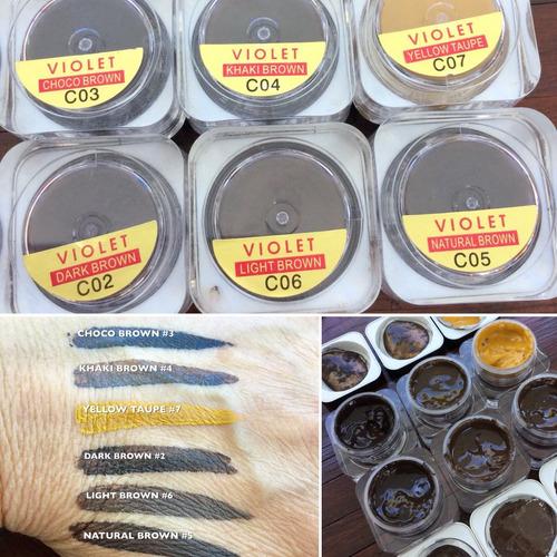 pigmento sólidos microblading 15ml usa súper rendimiento