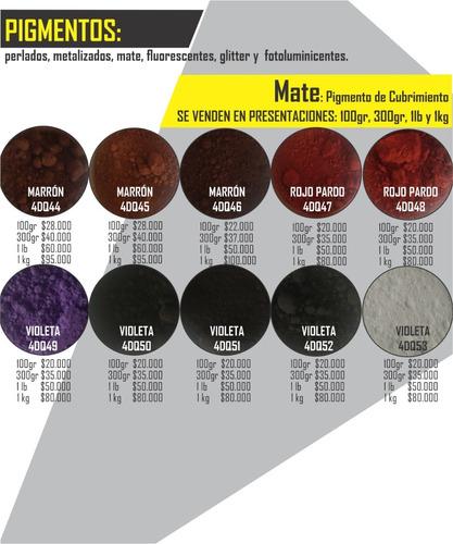 pigmentos mate porcelanato liquido resina epoxica/espacio 4d
