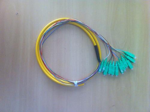 pigtail de fibra óptica 0,9mm 12 cores em feixe sc/apc