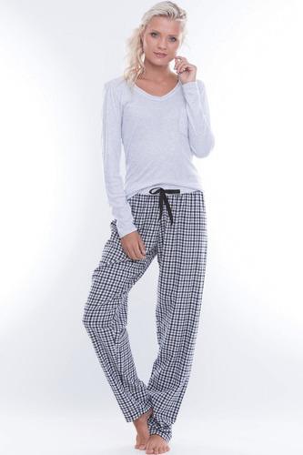 9d226b4a9 Pijama Adulto Flanela Xadrez Pocket - R  99