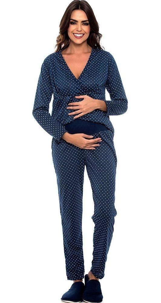 a346f7f25b23f3 Pijama Amamentação Inverno Gestante Com Abertura 7885