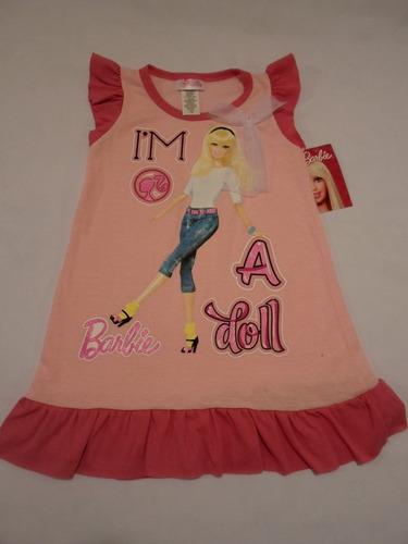 pijama bata para niña barbie 6 y 8 años